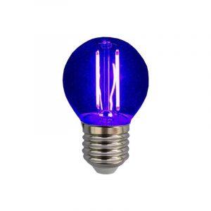 Eurolamp Λάμπα Led Σφαιρική Filament 3W E27 240V Μπλε