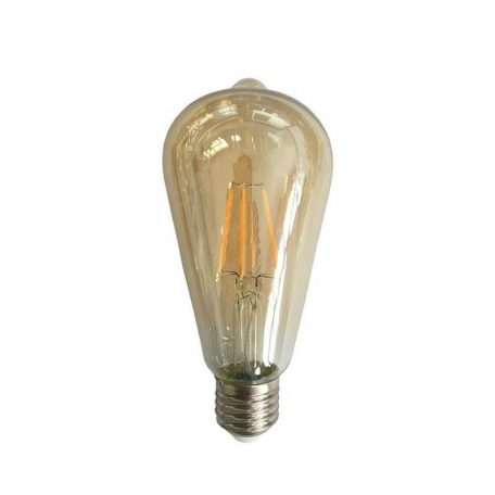 Eurolamp Λάμπα Led ST64 Dim Filament 4W E27 2400K 240V Gold