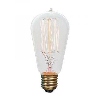Eurolamp Λάμπα Νήματος Edison ST58 25W E27 240V - elemech.gr