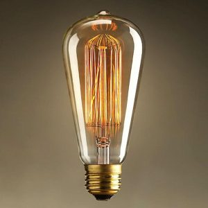 Eurolamp Λάμπα Νήματος Edison ST64 25W E27 240V - elemech.gr