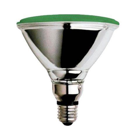 Eurolamp Λάμπα Πυράκτωσης Σκληράς Υάλου Πράσινη PAR38 80W E27 42V - elemech.gr
