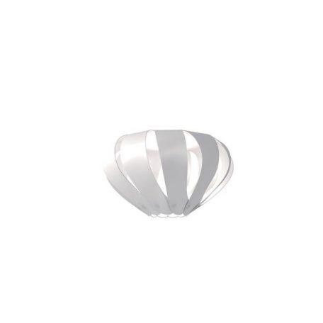 "Eurolamp Διακοσμητική Σκιάδα Φ310 Λευκή ""Cannes"" - elemech.gr"