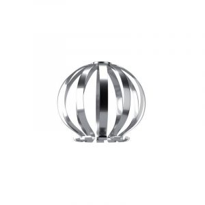"Eurolamp Διακοσμητική Σκιάδα Φ350 Νίκελ ""Genoa"" - elemech.gr"