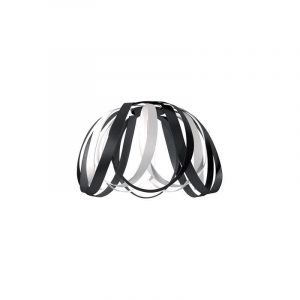 "Eurolamp Διακοσμητική Σκιάδα Φ400 Λευκή & Μαύρη ""Madrid"" - elemech.gr"