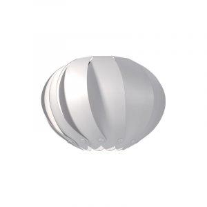 """Eurolamp Διακοσμητική Σκιάδα Φ400 Λευκή """"Palma"""" - elemech.gr"""