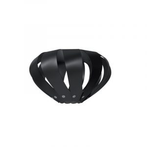 "Eurolamp Διακοσμητική Σκιάδα Φ400 Μαύρη ""Cannes"" - elemech.gr"
