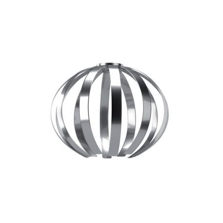 "Eurolamp Διακοσμητική Σκιάδα Φ500 Νίκελ ""Corfu"" - elemech.gr"