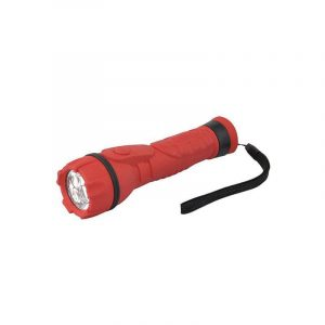 Eurolamp Φακός Led Χειρός Μπαταρίας Κόκκινος - elemech.gr