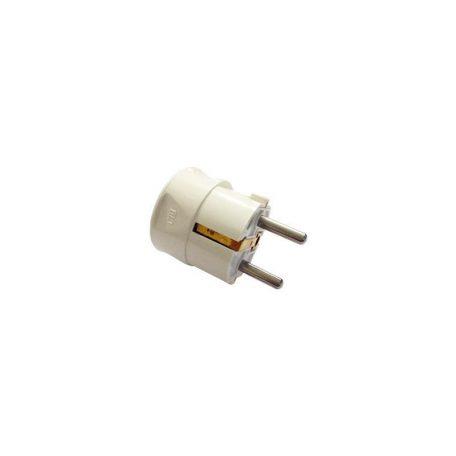 Eurolamp Φις Σούκο Αρσενικό Λευκό 16A 250V - elemech.gr