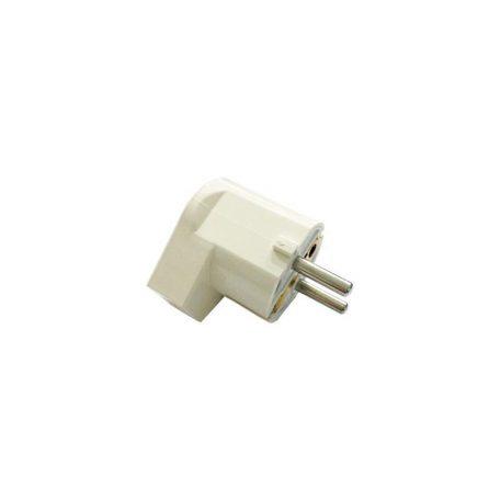 Eurolamp Φις Σούκο Αρσενικό Πλαγείας Λευκό 16A 250V - elemech.gr