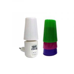 Eurolamp Φωτάκι Νυκτός Led 1W 2700K με Διακόπτη και 4 Χρώματα - elemech.gr
