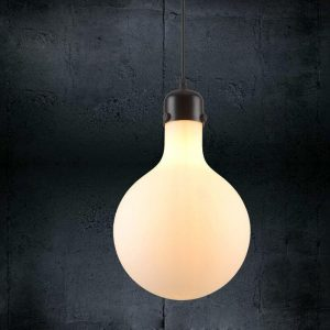 "Eurolamp Φωτιστικό Ball Opal Φ210 E27 ""Μήλος"" - elemech.gr"