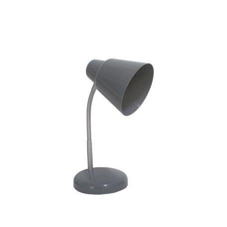 Eurolamp Φωτιστικό Γραφείου Πλαστικό Γκρι E27 - elemech.gr