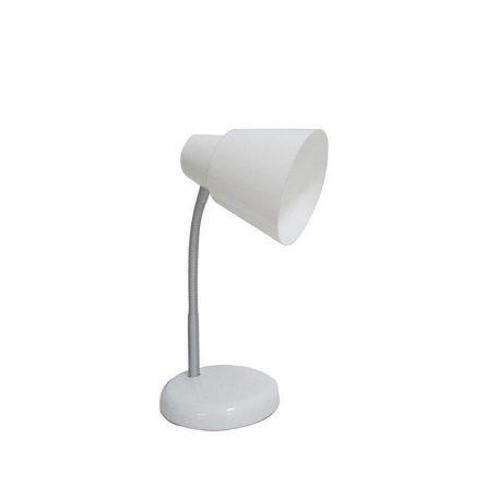 Eurolamp Φωτιστικό Γραφείου Πλαστικό Λευκό E27 - elemech.gr