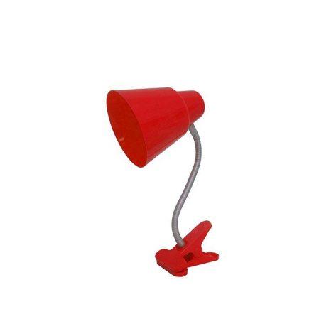 Eurolamp Φωτιστικό Γραφείου Πλαστικό με Μανταλάκι Κόκκινο E27 - elemech.gr