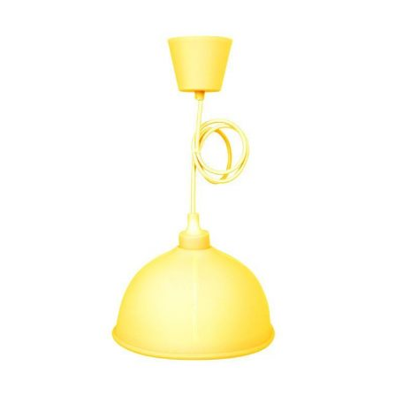 Eurolamp Φωτιστικό Καμπάνα Κρεμαστό Σιλικόνης Κίτρινο E27 - elemech.gr