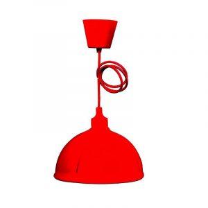 Eurolamp Φωτιστικό Καμπάνα Κρεμαστό Σιλικόνης Κόκκινο E27 - elemech.gr
