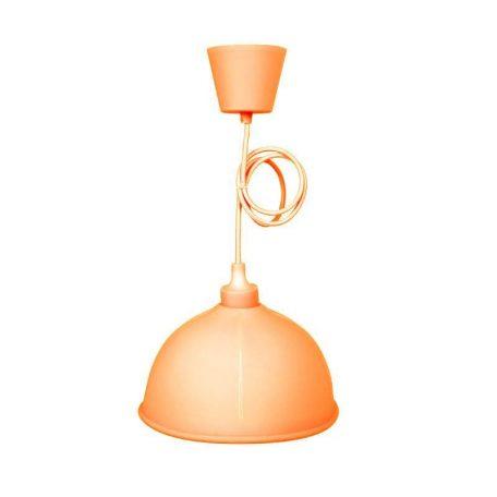 Eurolamp Φωτιστικό Καμπάνα Κρεμαστό Σιλικόνης Πορτοκαλί E27 - elemech.gr