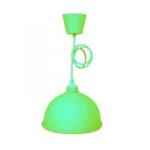 Eurolamp Φωτιστικό Καμπάνα Κρεμαστό Σιλικόνης Πράσινο E27 - elemech.gr