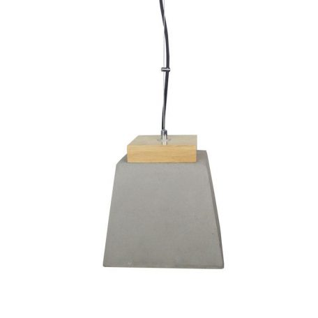 "Eurolamp Φωτιστικό Κρεμαστό Concrete Λευκό ""Σέριφος"" Ε27 - elemech.gr"