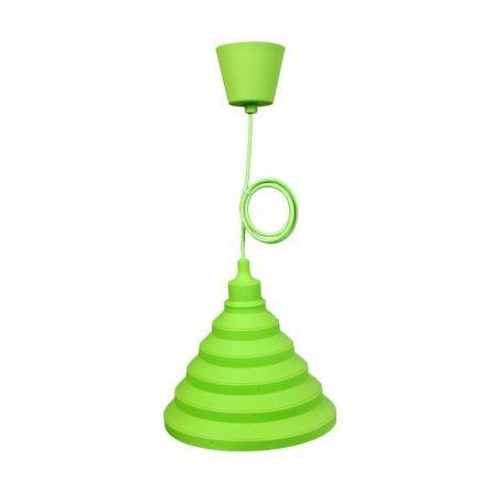 Eurolamp Φωτιστικό Κρεμαστό Σιλικόνης Πράσινο E27 - elemech.gr