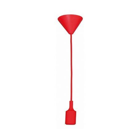 Eurolamp Φωτιστικό Ντουί Κρεμαστό Κόκκινο E27 - elemech.gr