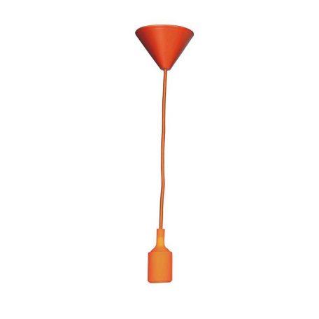 Eurolamp Φωτιστικό Ντουί Κρεμαστό Πορτοκαλί E27 - elemech.gr