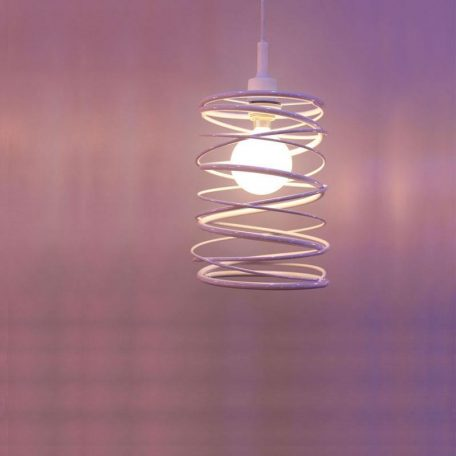 "Eurolamp Φωτιστικό Σπιράλ Φ200x260 Λευκό ""Πάρος"" - elemech.gr"