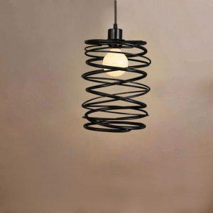 "Eurolamp Φωτιστικό Σπιράλ Φ200x260 Μαύρο ""Πάρος"" - elemech.gr"