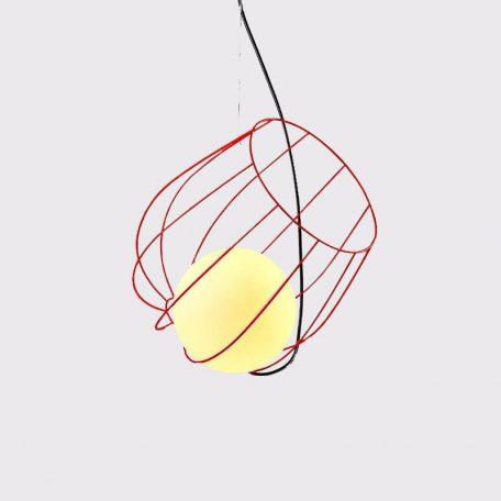"Eurolamp Φωτιστικό Σπιράλ Φ360 Κόκκινο ""Νάξος"" - elemech.gr"