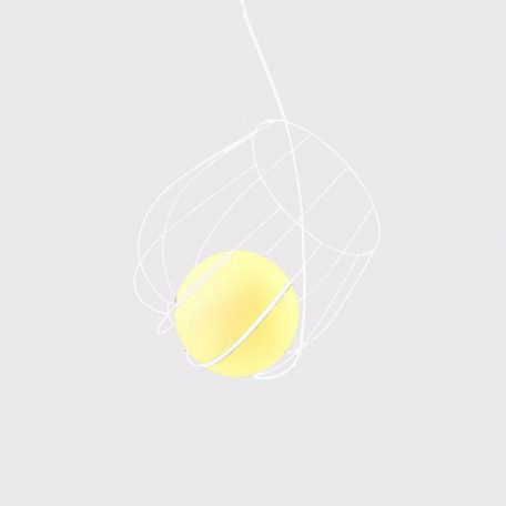 """Eurolamp Φωτιστικό Σπιράλ Φ360 Λευκό """"Νάξος"""" - elemech.gr"""
