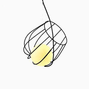 "Eurolamp Φωτιστικό Σπιράλ Φ360 Μαύρο ""Νάξος"" - elemech.gr"