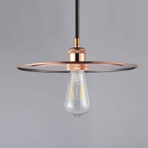 """Eurolamp Φωτιστικό Vintage Φ300 E27 Χαλκού """"Ίος"""" - elemech.gr"""