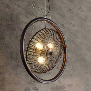 "Eurolamp Φωτιστικό Vintage Φ500 3x27 Καφέ ""Σαντορίνη"" - elemech.gr"