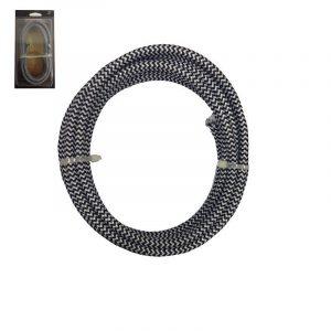 Eurolamp Καλώδιο Κορδόνι Μαύρο-Λευκό 2x0.75mm 3m - elemech.gr