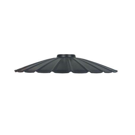 "Eurolamp Μεταλλική Σκιάδα Φ300 Μαύρη ""Σύρος"" - elemech.gr"