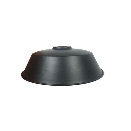"""Eurolamp Μεταλλική Σκιάδα Φ360 Μαύρη Ματ """"Σύρος"""" - elemech.gr"""