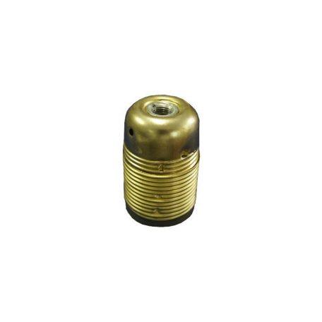Eurolamp Ντουί Μεταλλικό 2 Δαχτυλίδια Χρυσά E27 - elemech.gr