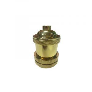 Eurolamp Ντουί Μεταλλικό Χρυσό E27 - elemech.gr