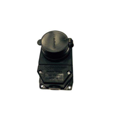 Eurolamp Πρίζα Εξωτερική Καουτσούκ Στεγανή IP54 - elemech.gr